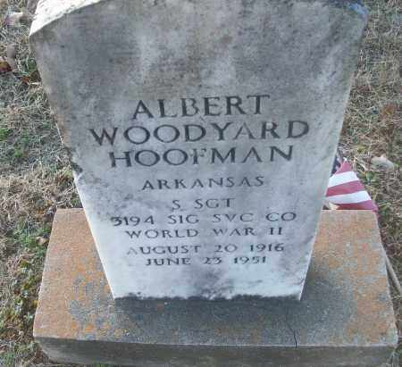 HOOFMAN (VETERAN WWII), ALBERT WOODYARD - White County, Arkansas   ALBERT WOODYARD HOOFMAN (VETERAN WWII) - Arkansas Gravestone Photos