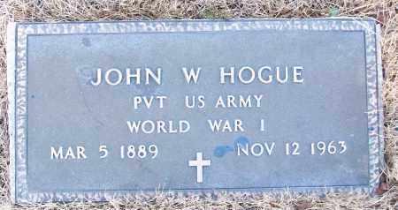 HOGUE (VETERAN WWI), JOHN W - White County, Arkansas | JOHN W HOGUE (VETERAN WWI) - Arkansas Gravestone Photos