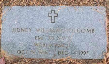 HOLCOMB (VETERAN WWII), SIDNEY WILLIAM - White County, Arkansas | SIDNEY WILLIAM HOLCOMB (VETERAN WWII) - Arkansas Gravestone Photos