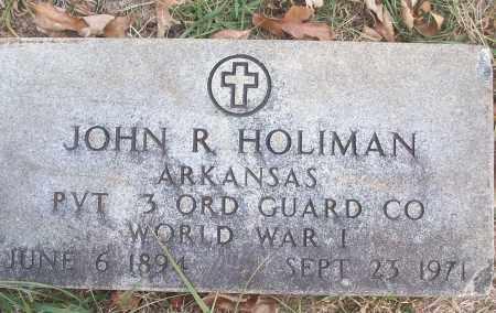 HOLIMAN (VETERAN WWI), JOHN R - White County, Arkansas   JOHN R HOLIMAN (VETERAN WWI) - Arkansas Gravestone Photos