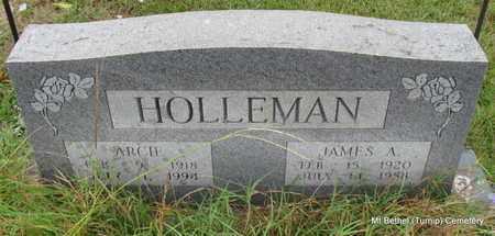 HOLLEMAN, JAMES A - White County, Arkansas | JAMES A HOLLEMAN - Arkansas Gravestone Photos
