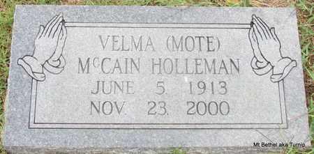 HOLLEMAN, VELMA MCCAIN - White County, Arkansas | VELMA MCCAIN HOLLEMAN - Arkansas Gravestone Photos