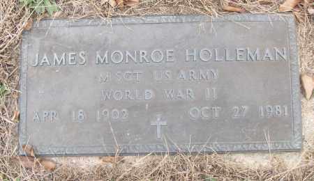 HOLLEMAN (VETERAN WWII), JAMES MONROE - White County, Arkansas   JAMES MONROE HOLLEMAN (VETERAN WWII) - Arkansas Gravestone Photos