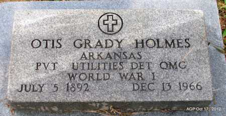 HOLMES (VETERAN WWI), OTIS GRADY - White County, Arkansas | OTIS GRADY HOLMES (VETERAN WWI) - Arkansas Gravestone Photos