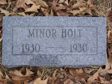 HOLT, MINOR - White County, Arkansas | MINOR HOLT - Arkansas Gravestone Photos