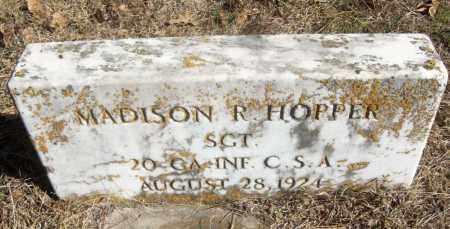 HOPPER (VETERAN CSA), MADISON R - White County, Arkansas | MADISON R HOPPER (VETERAN CSA) - Arkansas Gravestone Photos