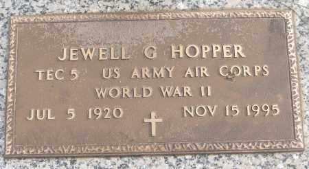HOPPER (VETERAN WWII), JEWELL G - White County, Arkansas | JEWELL G HOPPER (VETERAN WWII) - Arkansas Gravestone Photos