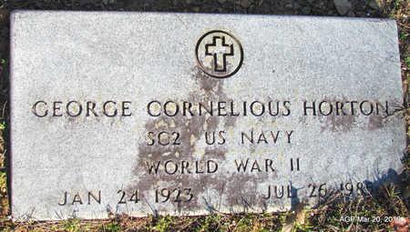 HORTON (VETERAN WWII), GEORGE CORNELIOUS - White County, Arkansas | GEORGE CORNELIOUS HORTON (VETERAN WWII) - Arkansas Gravestone Photos