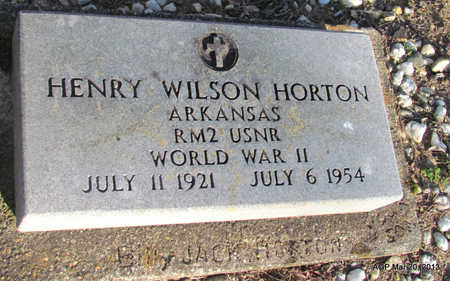 HORTON (VETERAN WWII), HENRY WILSON - White County, Arkansas | HENRY WILSON HORTON (VETERAN WWII) - Arkansas Gravestone Photos
