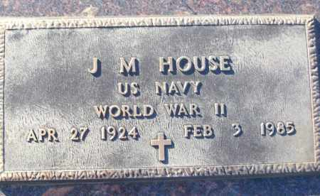 HOUSE (VETERAN WWII), J M - White County, Arkansas   J M HOUSE (VETERAN WWII) - Arkansas Gravestone Photos