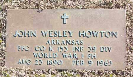 HOWTON (VETERAN WWI), JOHN WESLEY - White County, Arkansas   JOHN WESLEY HOWTON (VETERAN WWI) - Arkansas Gravestone Photos