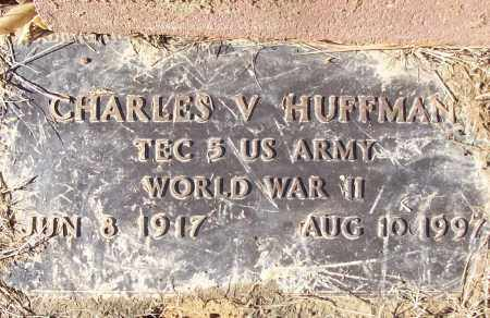 HUFFMAN (VETERAN WWII), CHARLES V - White County, Arkansas | CHARLES V HUFFMAN (VETERAN WWII) - Arkansas Gravestone Photos