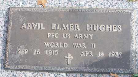 HUGHES (VETERAN WWII), ARVIL ELMER - White County, Arkansas | ARVIL ELMER HUGHES (VETERAN WWII) - Arkansas Gravestone Photos
