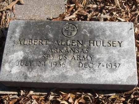 HULSEY (VETERAN), ALBERT ALLEN - White County, Arkansas   ALBERT ALLEN HULSEY (VETERAN) - Arkansas Gravestone Photos