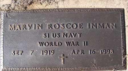 INMAN (VETERAN WWII), MARVIN ROSCOE ) - White County, Arkansas   MARVIN ROSCOE ) INMAN (VETERAN WWII) - Arkansas Gravestone Photos