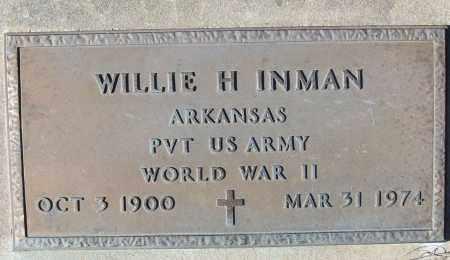 INMAN (VETERAN WWII), WILLIE H - White County, Arkansas | WILLIE H INMAN (VETERAN WWII) - Arkansas Gravestone Photos