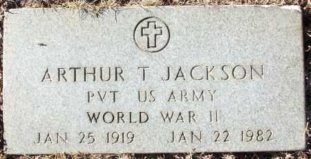 JACKSON (VETERAN WWII), ARTHUR T - White County, Arkansas | ARTHUR T JACKSON (VETERAN WWII) - Arkansas Gravestone Photos