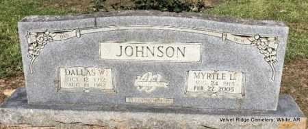 JOHNSON, DALLAS W - White County, Arkansas | DALLAS W JOHNSON - Arkansas Gravestone Photos
