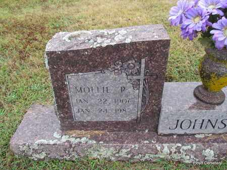 JOHNSON, MOLLIE P (CLOSE UP) - White County, Arkansas | MOLLIE P (CLOSE UP) JOHNSON - Arkansas Gravestone Photos