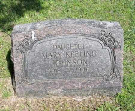KEELING JOHNSON, MARY - White County, Arkansas | MARY KEELING JOHNSON - Arkansas Gravestone Photos