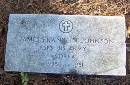 JOHNSON (VETERAN KOR), JAMES FRANKLIN - White County, Arkansas | JAMES FRANKLIN JOHNSON (VETERAN KOR) - Arkansas Gravestone Photos