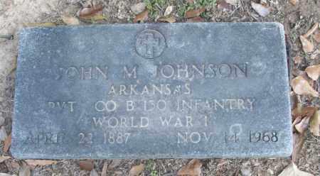 JOHNSON (VETERAN WWI), JOHN M - White County, Arkansas | JOHN M JOHNSON (VETERAN WWI) - Arkansas Gravestone Photos