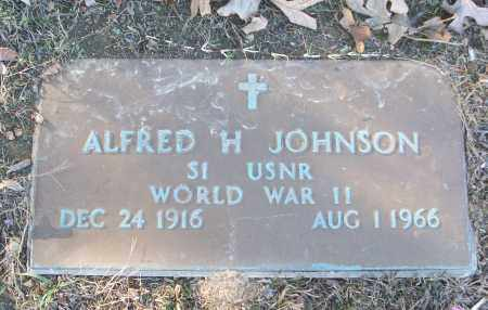 JOHNSON (VETERAN WWII), ALFRED H - White County, Arkansas   ALFRED H JOHNSON (VETERAN WWII) - Arkansas Gravestone Photos