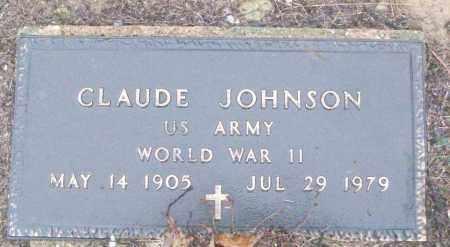 JOHNSON (VETERAN WWII), CLAUDE - White County, Arkansas | CLAUDE JOHNSON (VETERAN WWII) - Arkansas Gravestone Photos