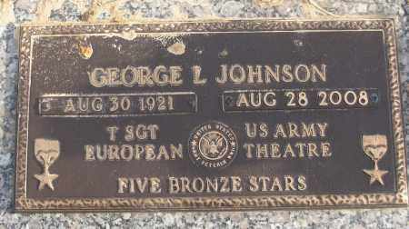 JOHNSON (VETERAN WWII), GEORGE L - White County, Arkansas   GEORGE L JOHNSON (VETERAN WWII) - Arkansas Gravestone Photos
