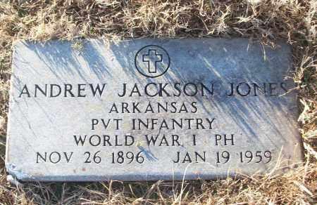 JONES (VETERAN WWI), ANDREW JACKSON - White County, Arkansas | ANDREW JACKSON JONES (VETERAN WWI) - Arkansas Gravestone Photos