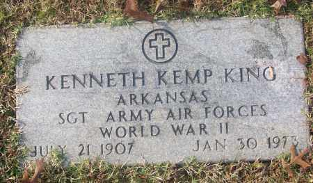 KING  (VETERAN WWII), KENNETH KEMP - White County, Arkansas | KENNETH KEMP KING  (VETERAN WWII) - Arkansas Gravestone Photos