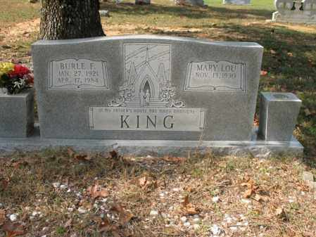 KING, BURLE F - White County, Arkansas   BURLE F KING - Arkansas Gravestone Photos