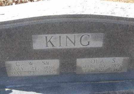 KING, C.W. SR. - White County, Arkansas   C.W. SR. KING - Arkansas Gravestone Photos