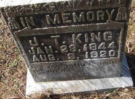 KING, J.T. - White County, Arkansas | J.T. KING - Arkansas Gravestone Photos