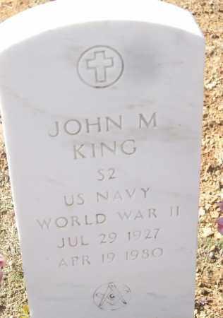 KING, JOHN M. - White County, Arkansas   JOHN M. KING - Arkansas Gravestone Photos