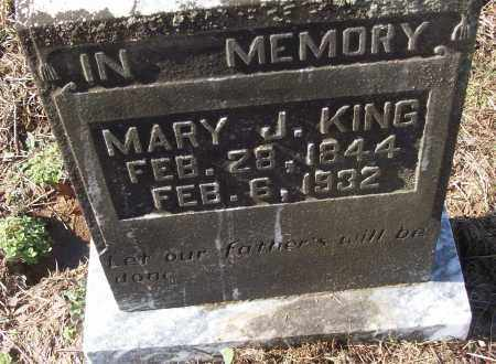 KING, MARY J. - White County, Arkansas | MARY J. KING - Arkansas Gravestone Photos