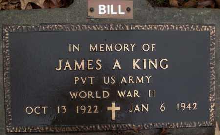 KING (VETERAN WWII, KIA), JAMES A - White County, Arkansas | JAMES A KING (VETERAN WWII, KIA) - Arkansas Gravestone Photos