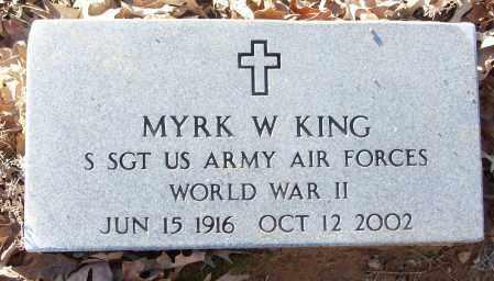 KING (VETERAN WWII), MYRK W - White County, Arkansas | MYRK W KING (VETERAN WWII) - Arkansas Gravestone Photos