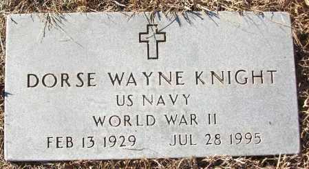 KNIGHT (VETERAN WWII), DORSE WAYNE - White County, Arkansas | DORSE WAYNE KNIGHT (VETERAN WWII) - Arkansas Gravestone Photos