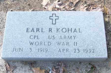 KOHAL (VETERAN WWII), EARL R - White County, Arkansas   EARL R KOHAL (VETERAN WWII) - Arkansas Gravestone Photos