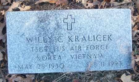 KRALICEK (VETERAN 2 WARS), WILLY C - White County, Arkansas | WILLY C KRALICEK (VETERAN 2 WARS) - Arkansas Gravestone Photos