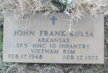 KULSA (VETERAN VIET), JOHN FRANK - White County, Arkansas   JOHN FRANK KULSA (VETERAN VIET) - Arkansas Gravestone Photos