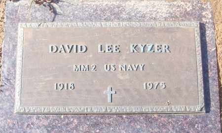 KYZER (VETERAN), DAVID LEE - White County, Arkansas   DAVID LEE KYZER (VETERAN) - Arkansas Gravestone Photos