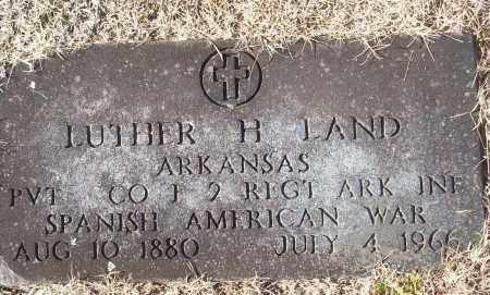 LAND (VETERAN SAW), LUTHER H - White County, Arkansas | LUTHER H LAND (VETERAN SAW) - Arkansas Gravestone Photos