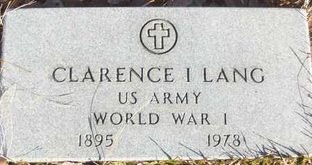 LANG (VETERAN WWI), CLARENCE I - White County, Arkansas | CLARENCE I LANG (VETERAN WWI) - Arkansas Gravestone Photos