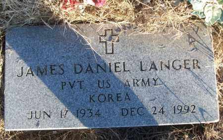 LANGER (VETERAN KOR), JAMES DANIEL - White County, Arkansas | JAMES DANIEL LANGER (VETERAN KOR) - Arkansas Gravestone Photos