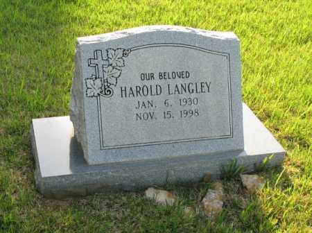 LANGLEY, HAROLD LEE - White County, Arkansas | HAROLD LEE LANGLEY - Arkansas Gravestone Photos