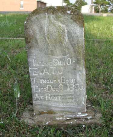LANGLEY, INFANT SON - White County, Arkansas   INFANT SON LANGLEY - Arkansas Gravestone Photos
