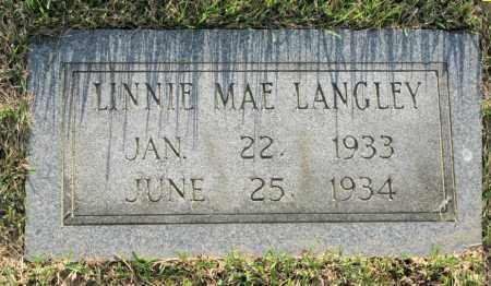 LANGLEY, LINNIE MAE - White County, Arkansas | LINNIE MAE LANGLEY - Arkansas Gravestone Photos
