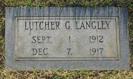LANGLEY, LUTCHER G. - White County, Arkansas | LUTCHER G. LANGLEY - Arkansas Gravestone Photos